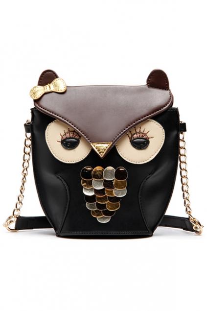 Glittering-Owl-Shoulder-Bag