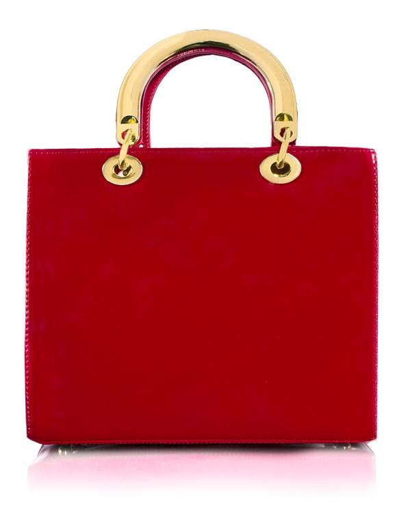 Borsa Lady Lucida Rossa Front