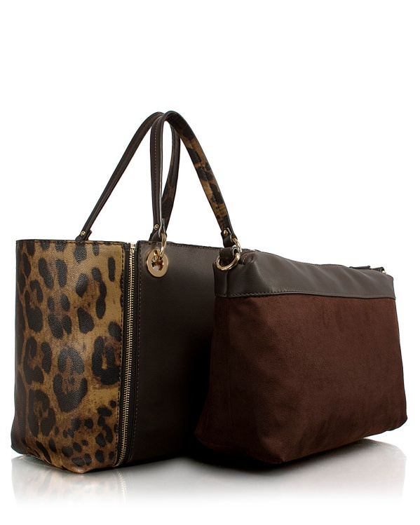 Borsa Shopping Leopardo  4 in 1_3