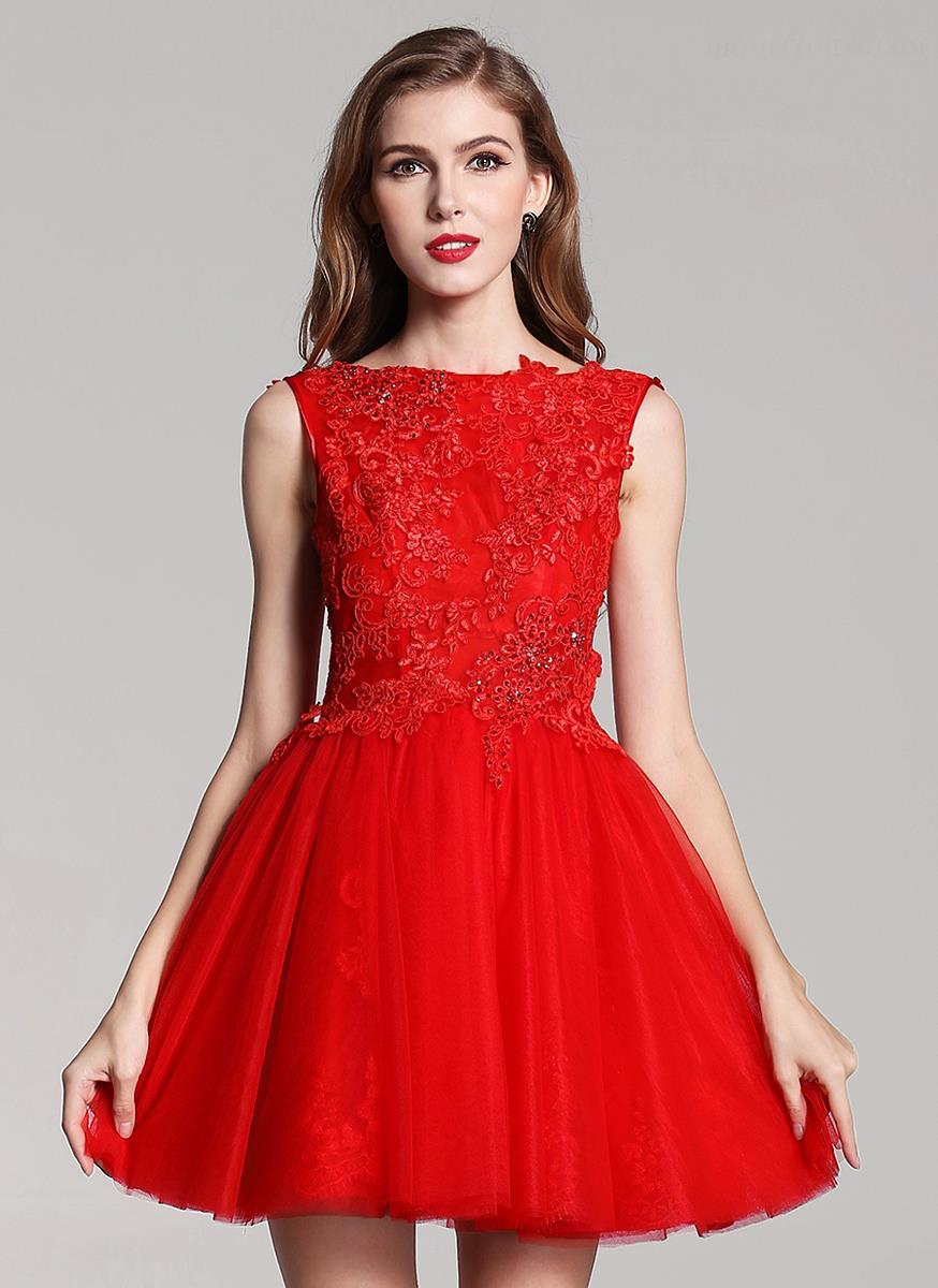 Платья на выпускной красное
